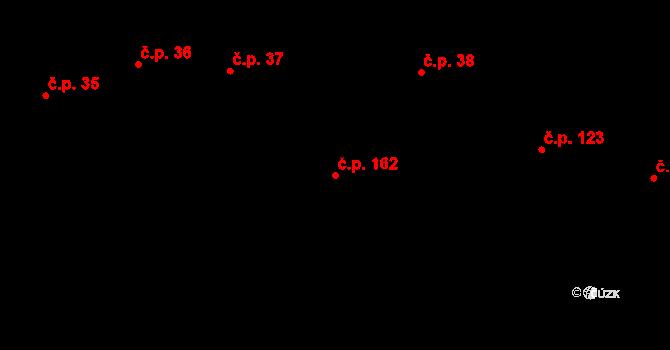 Plavsko 162 na parcele st. 19/2 v KÚ Plavsko, Katastrální mapa