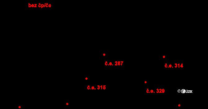 Hloubětín 287, Praha na parcele st. 1355/14 v KÚ Hloubětín, Katastrální mapa