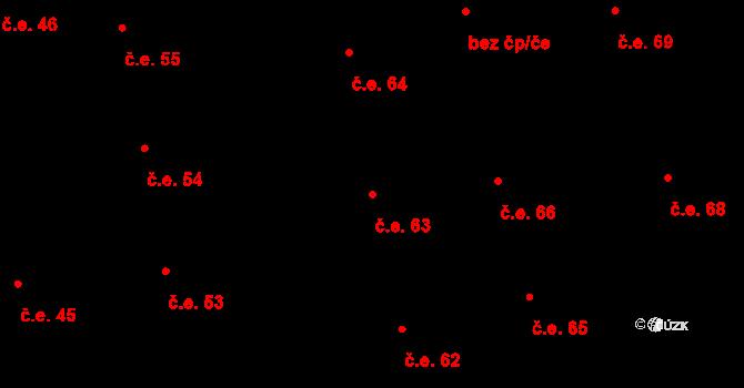 Prštné 63, Zlín na parcele st. 855 v KÚ Prštné, Katastrální mapa