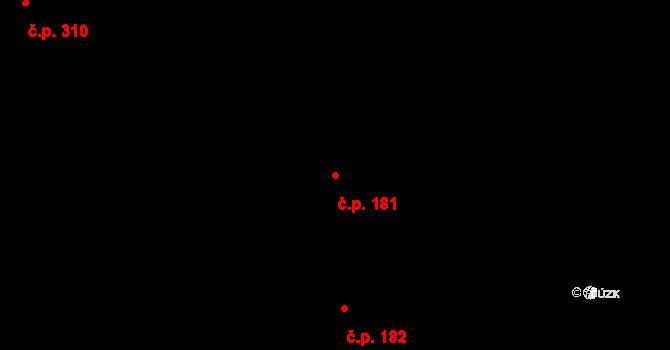 Polabiny 181, Pardubice na parcele st. 5679 v KÚ Pardubice, Katastrální mapa