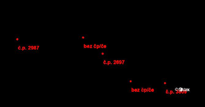 Královo Pole 2697, Brno na parcele st. 4122/15 v KÚ Královo Pole, Katastrální mapa