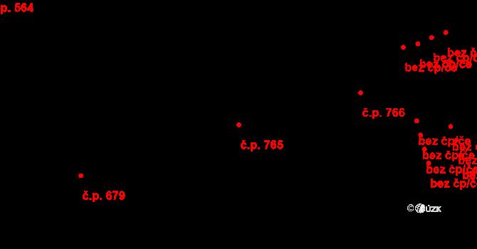 Bojkovice 765 na parcele st. 979 v KÚ Bojkovice, Katastrální mapa