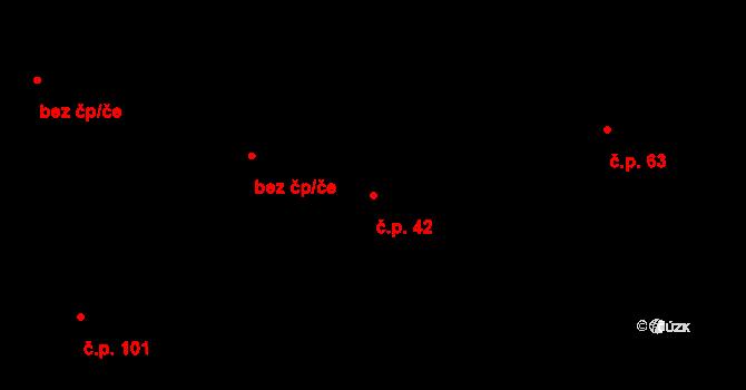 Rovná 42 na parcele st. 46/2 v KÚ Rovná u Strakonic, Katastrální mapa