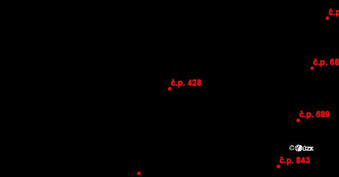 Nivnice 428 na parcele st. 2068/14 v KÚ Nivnice, Katastrální mapa