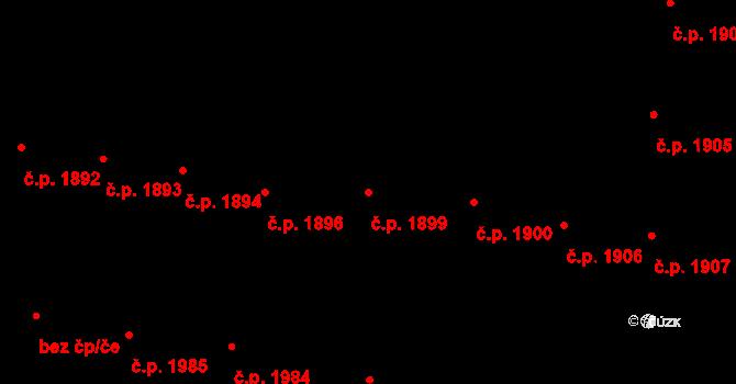 České Budějovice 3 1899, České Budějovice na parcele st. 4505 v KÚ České Budějovice 3, Katastrální mapa