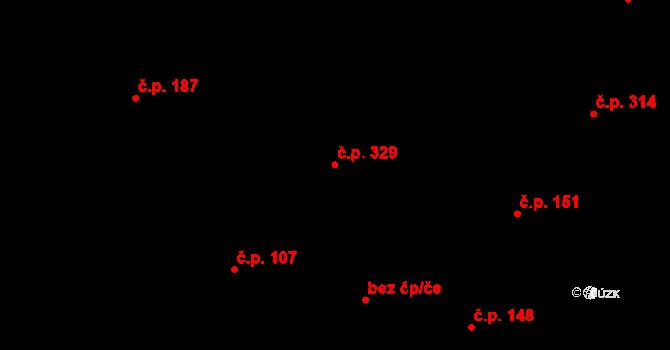 Davle 329 na parcele st. 963 v KÚ Davle, Katastrální mapa