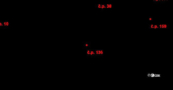 Velíková 136, Zlín na parcele st. 213 v KÚ Velíková, Katastrální mapa