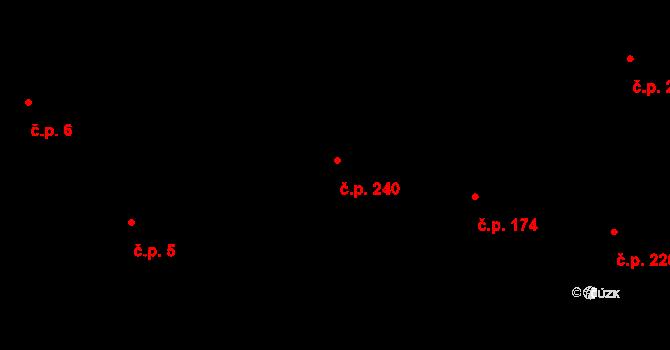 Dolní Počernice 240, Praha na parcele st. 302 v KÚ Dolní Počernice, Katastrální mapa
