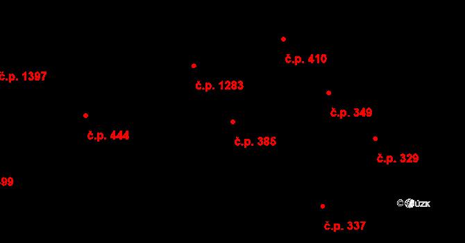 Děčín I-Děčín 385, Děčín na parcele st. 2201 v KÚ Děčín, Katastrální mapa