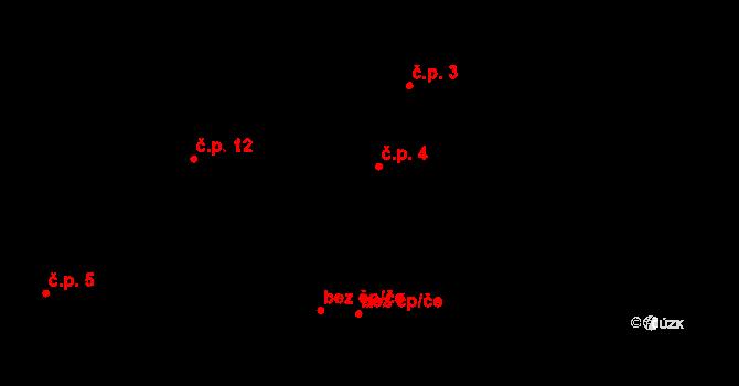 Chvalšovice 4, Čachrov na parcele st. 7 v KÚ Chvalšovice u Čachrova, Katastrální mapa