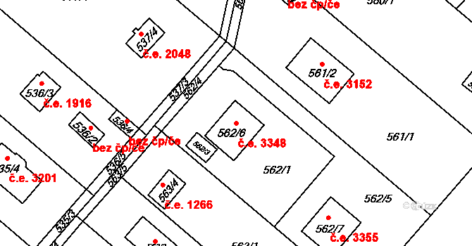 Doudlevce 3348, Plzeň, Katastrální mapa