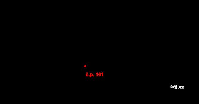 Pohledy 161 na parcele st. 29 v KÚ Pohledy, Katastrální mapa