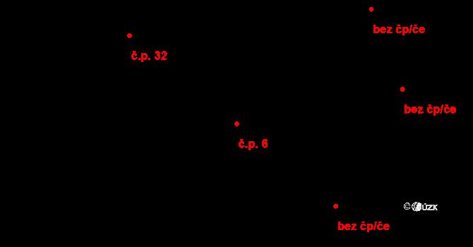 Stránka 6 na parcele st. 174 v KÚ Stránka u Mšena, Katastrální mapa