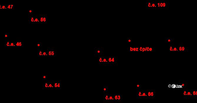 Prštné 64, Zlín na parcele st. 856 v KÚ Prštné, Katastrální mapa
