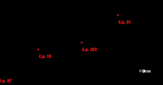 Liberec XVIII-Karlinky 203, Liberec na parcele st. 17/3 v KÚ Karlinky, Katastrální mapa