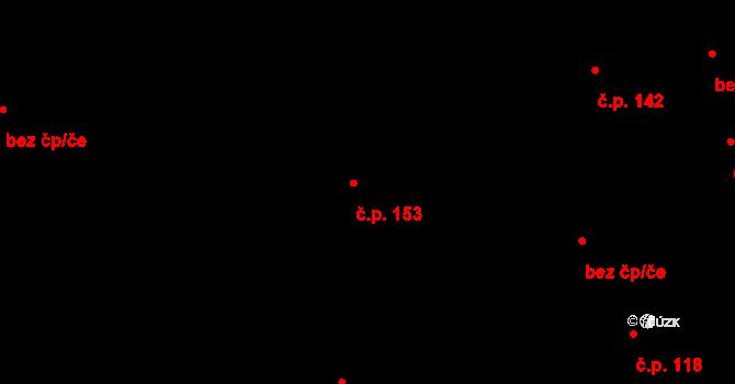 Nová Ves u Nového Města na Moravě 153 na parcele st. 354/2 v KÚ Nová Ves u Nového Města na Moravě, Katastrální mapa