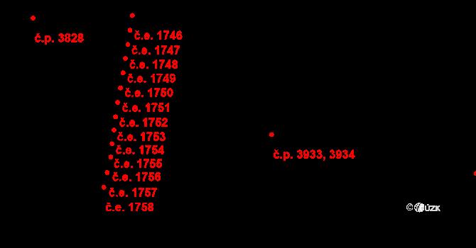 Zlín 3933,3934 na parcele st. 4820 v KÚ Zlín, Katastrální mapa