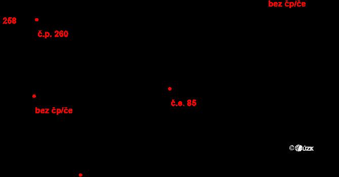 Černovice 85, Brno na parcele st. 61/1 v KÚ Černovice, Katastrální mapa