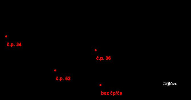 Lelov 36, Stod na parcele st. 36 v KÚ Lelov, Katastrální mapa