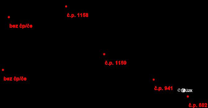 Čelákovice 1159 na parcele st. 1489 v KÚ Čelákovice, Katastrální mapa