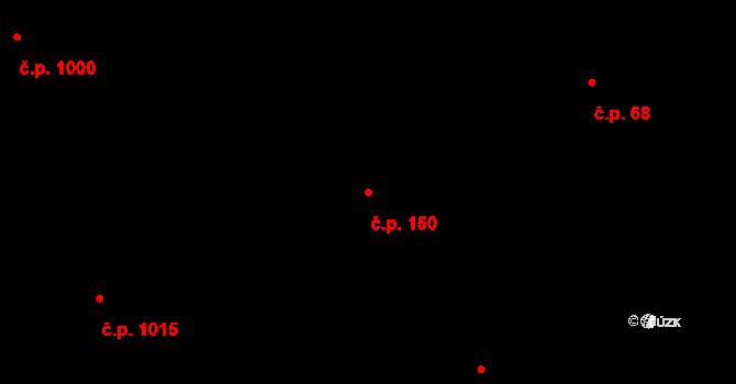 Lhotka 150, Praha na parcele st. 1016 v KÚ Lhotka, Katastrální mapa