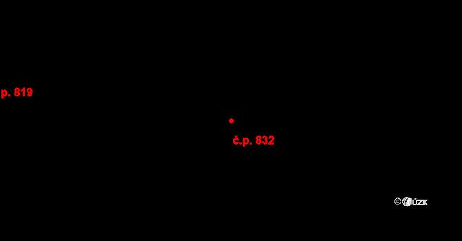 Újezd 832, Plzeň na parcele st. 982/133 v KÚ Újezd, Katastrální mapa