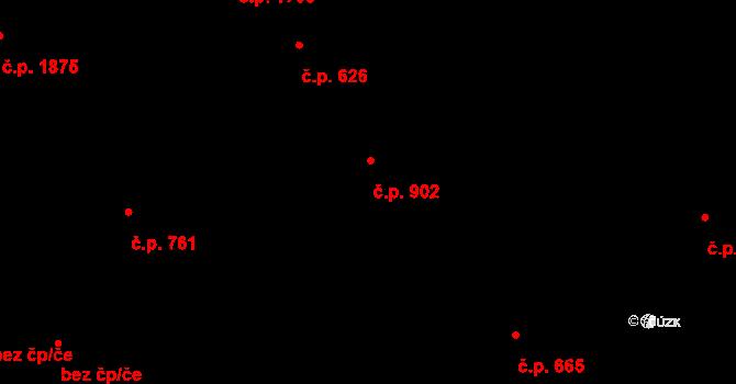 Vlašim 902 na parcele st. 847 v KÚ Vlašim, Katastrální mapa