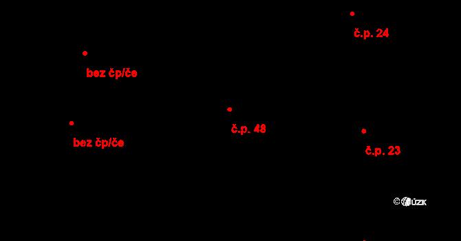 Nový Dvůr 48 na parcele st. 154/2 v KÚ Nový Dvůr u Oskořínka, Katastrální mapa