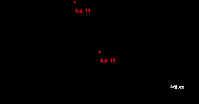 Nová Ves 12, Český Rudolec na parcele st. 12 v KÚ Dolní Bolíkov-Nová Ves, Katastrální mapa
