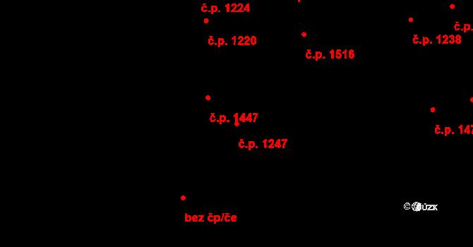 Kročehlavy 1247, Kladno na parcele st. 592 v KÚ Kročehlavy, Katastrální mapa