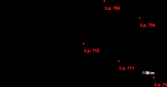 Hostinné 712 na parcele st. 972 v KÚ Hostinné, Katastrální mapa