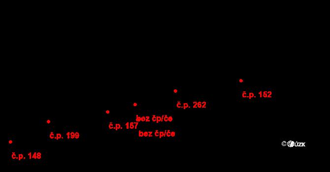 Otvovice 262 na parcele st. 433 v KÚ Otvovice, Katastrální mapa