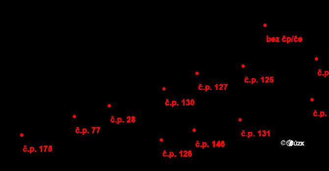 Davle 130 na parcele st. 378 v KÚ Davle, Katastrální mapa