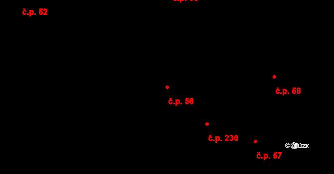 Slavonice 56 na parcele st. 352 v KÚ Slavonice, Katastrální mapa