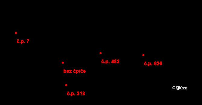 Nová Bělá 482, Ostrava na parcele st. 1112/3 v KÚ Nová Bělá, Katastrální mapa