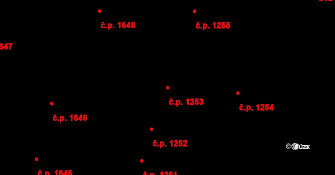 Nový Bydžov 1253 na parcele st. 361/1 v KÚ Nový Bydžov, Katastrální mapa