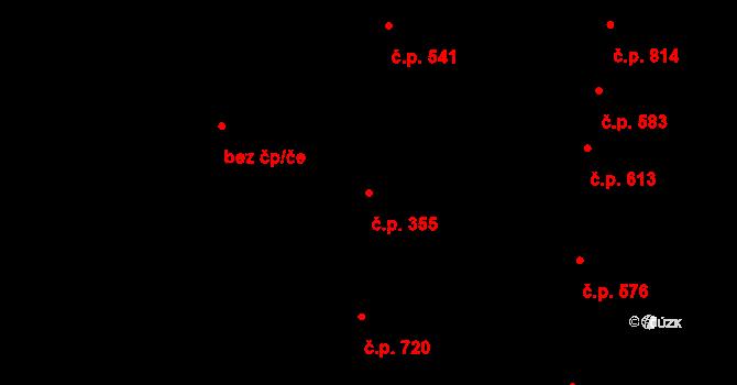 Nivnice 355 na parcele st. 1840/1 v KÚ Nivnice, Katastrální mapa