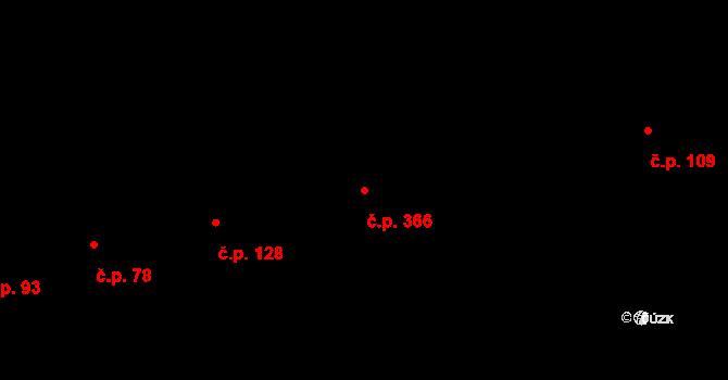 Karlín 366, Praha na parcele st. 307 v KÚ Karlín, Katastrální mapa