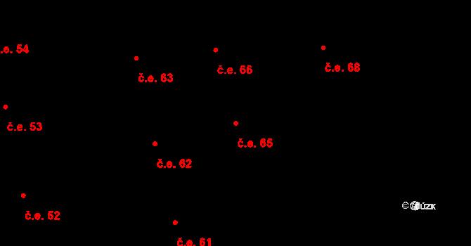 Prštné 65, Zlín na parcele st. 1044 v KÚ Prštné, Katastrální mapa