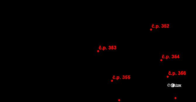 Nemilany 353, Olomouc na parcele st. 719/55 v KÚ Nemilany, Katastrální mapa
