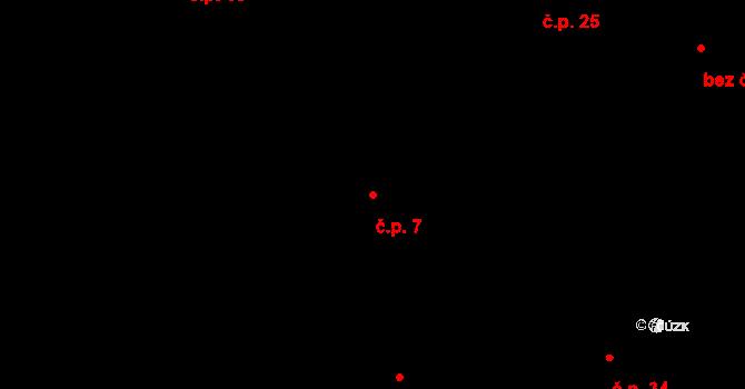 Svárkov 7, Letiny na parcele st. 11/1 v KÚ Svárkov, Katastrální mapa