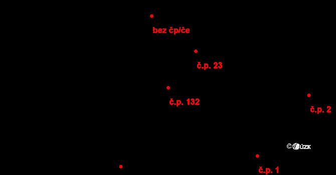 Količín 132, Holešov na parcele st. 47/1 v KÚ Količín, Katastrální mapa