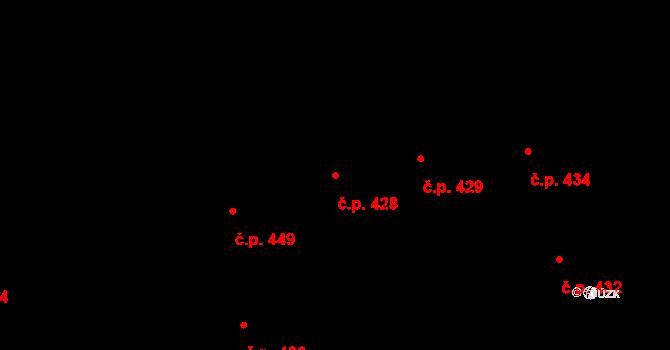 Karlín 428, Praha na parcele st. 566 v KÚ Karlín, Katastrální mapa