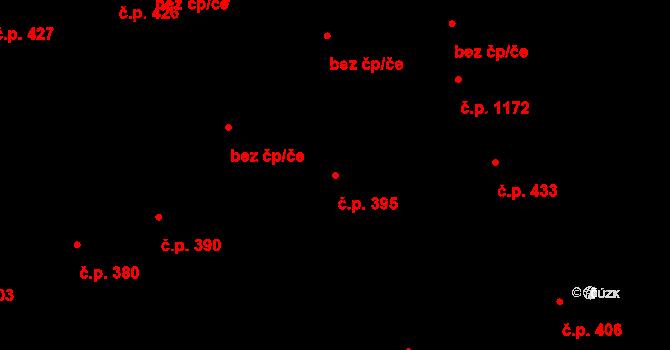 Svinov 395, Ostrava na parcele st. 315/1 v KÚ Svinov, Katastrální mapa