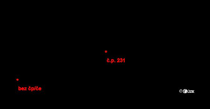Davle 231 na parcele st. 96 v KÚ Davle, Katastrální mapa