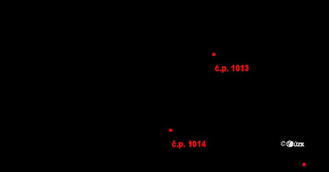 Studánka 1014, Pardubice na parcele st. 1012/2 v KÚ Studánka, Katastrální mapa