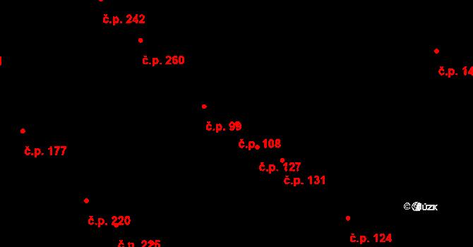 Mokrá Hora 108, Brno na parcele st. 481 v KÚ Mokrá Hora, Katastrální mapa