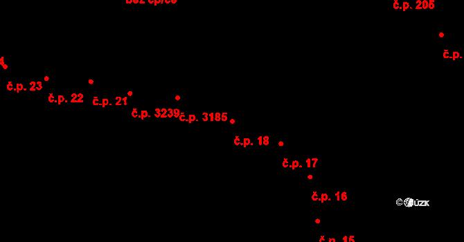 Přerov I-Město 18, Přerov na parcele st. 344 v KÚ Přerov, Katastrální mapa
