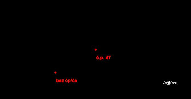 Koruna 47 na parcele st. 481 v KÚ Koruna, Katastrální mapa