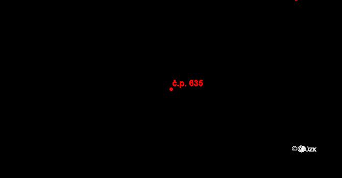 Mladcová 635, Zlín na parcele st. 1083 v KÚ Mladcová, Katastrální mapa